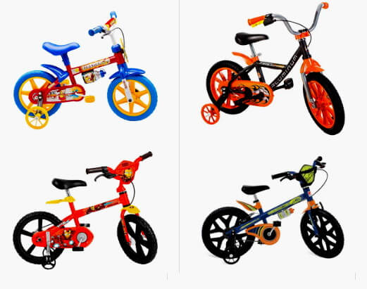 bicicletas infantis menino