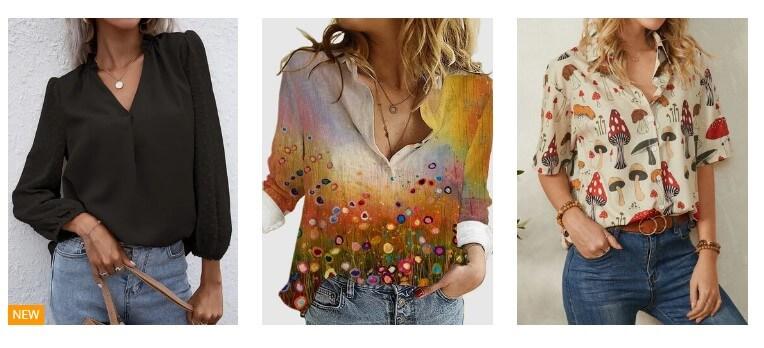 blusas lindas para mulheres