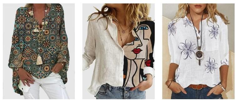 Blusas femininas modernas